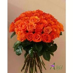 Buchet de 39 trandafiri portocalii