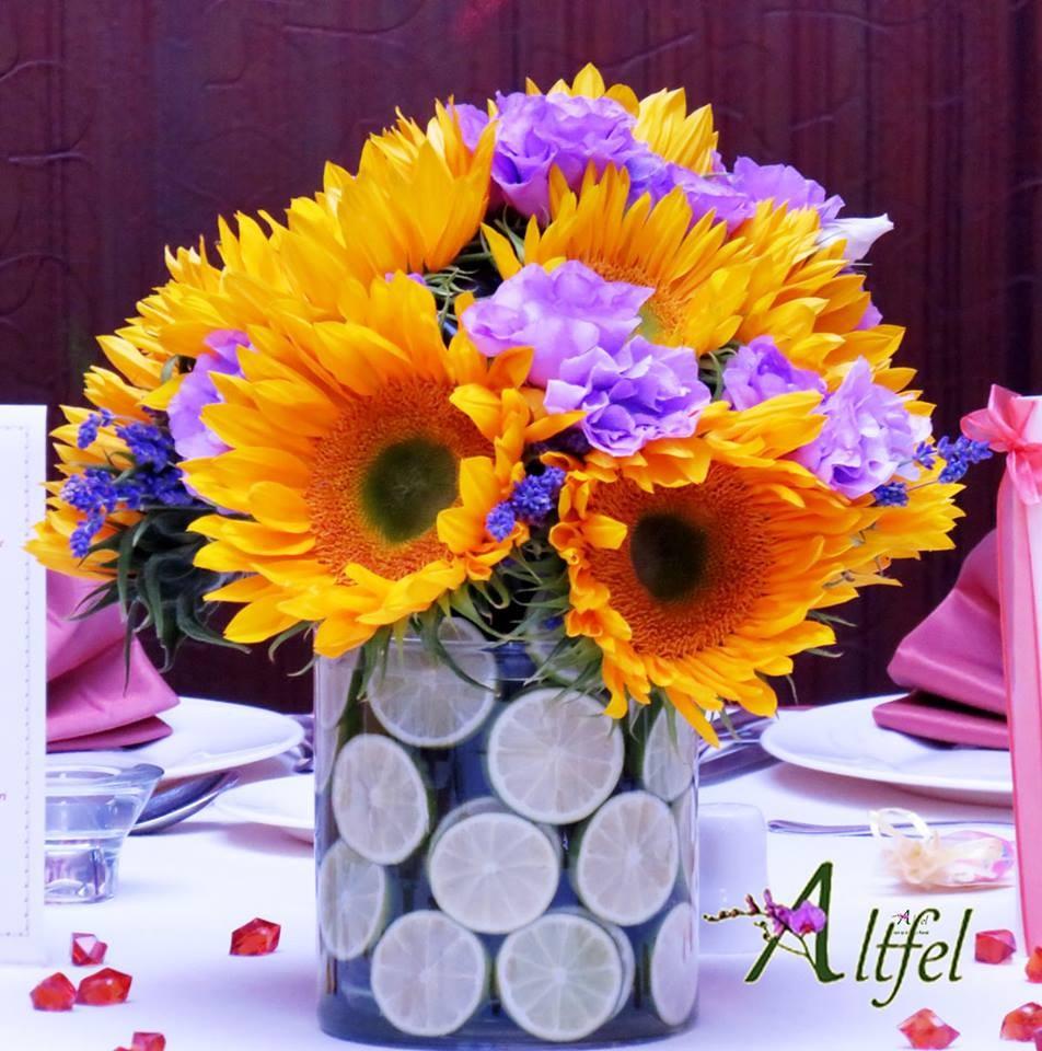Aranjament Floarea Soarelui Aranjamente Florale Botez Botez