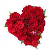 """Aranjament floral """"Inima de trandafiri"""""""