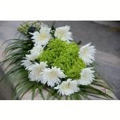 Buchet funerar crizanteme