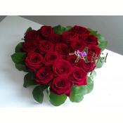 Inima din 19 trandafiri