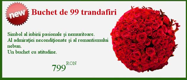 Buchet 99 trandafiri