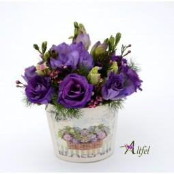 """Set 10 aranjamente florale ,,Martisor violet"""""""